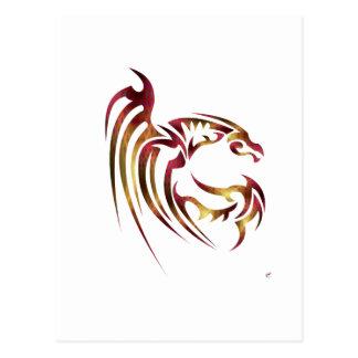 Henham el dragón metálico del rojo y del oro postal