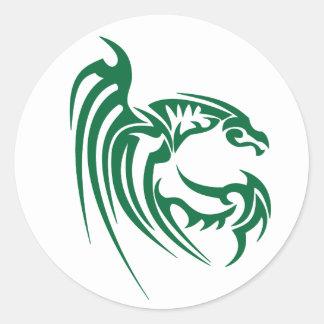 Henham el dragón verde pegatina