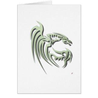 Henham the Metallic Green Dragon Greeting Card