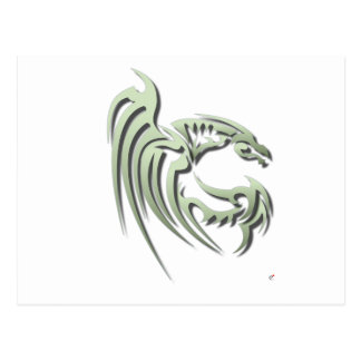 Henham the Metallic Green Dragon Postcard