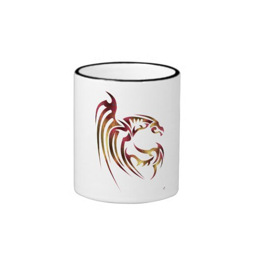Henham the Metallic Red and Gold Dragon Ringer Coffee Mug