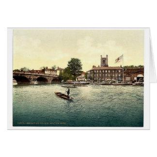Henley en Thames, hotel rojo del león, Londres y s Felicitación