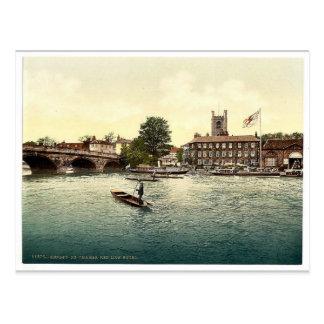 Henley en Thames, hotel rojo del león, Londres y s Postal