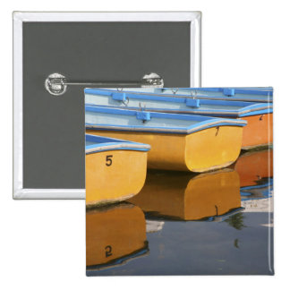 Henley-on-Thames row boats on the Thames River, Pinback Button
