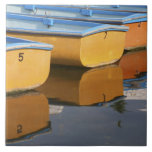Henley-on-Thames row boats on the Thames River, Ceramic Tile