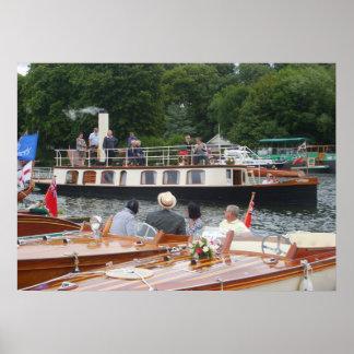 Henley on Thames, Steam riverboat Poster