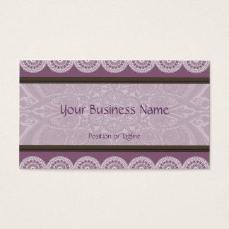 Henna and Lace Violet Business Card
