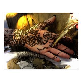 Henna application postcard