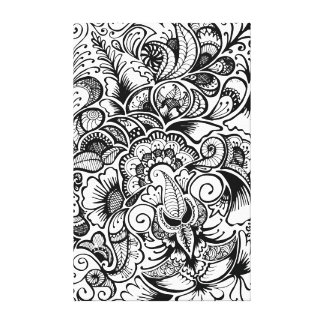 Henna Canvas Print