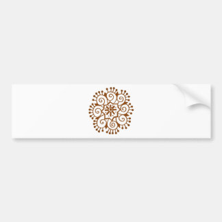 Henna Circle Bumper Sticker