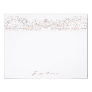 Henna Custom Flat Note Card (charcoal) Invitations