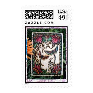 Henna Dragon Flys: Postage Stamp