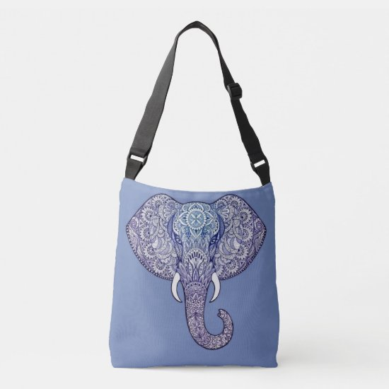 Henna Elephant Art Crossbody Bag