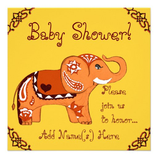 Indian Baby Shower Invitation as nice invitation template