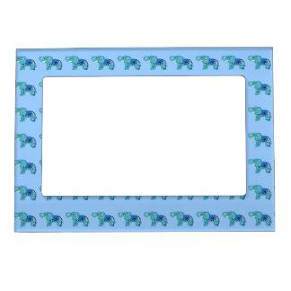 Henna Elephant (Blue/Light Blue) Magnetic Photo Frame