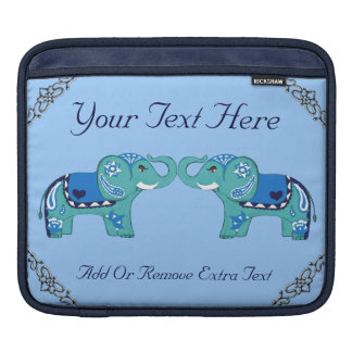 Henna Elephant (Blue/Light Blue) Sleeves For iPads