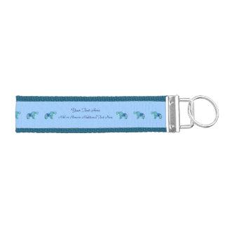 Henna Elephant (Blue/Light Blue) Wrist Keychain