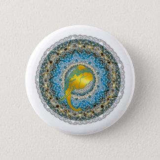 Henna Elephant Mandala Ganesha Mindfulness Gifts Button
