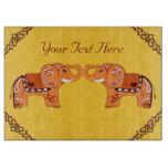 Henna Elephant (Orange/Red) Cutting Board