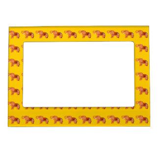 Henna Elephant (Orange/Red) Magnetic Picture Frame
