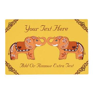 Henna Elephant (Orange/Red) Placemat