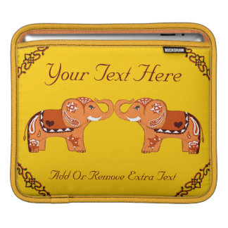 Henna Elephant (Orange/Red) Sleeve For iPads
