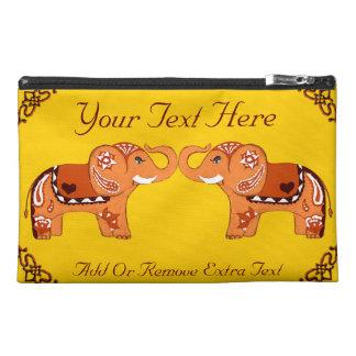 Henna Elephant (Orange/Red) Travel Accessory Bag