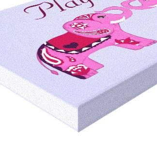 Henna Elephant (Pink/Purple) Stretched Canvas Prints