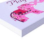 Henna Elephant (Pink/Purple) Canvas Print