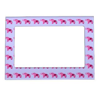 Henna Elephant (Pink/Purple) Magnetic Photo Frame