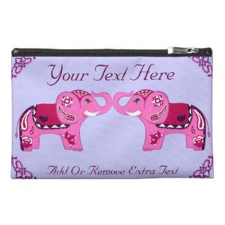 Henna Elephant (Pink/Purple) Travel Accessory Bag