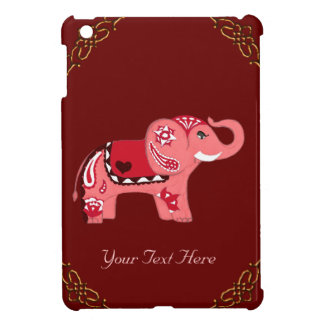 Henna Elephant (Red/Pink) Cover For The iPad Mini