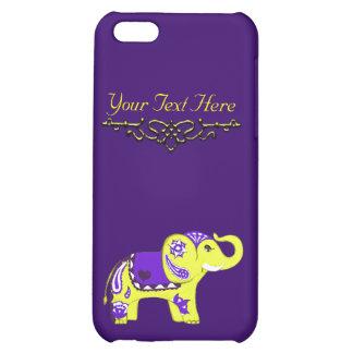 Henna Elephant (Yellow/Purple) iPhone 5C Case