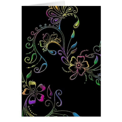 Henna Floral Design Customized Card