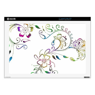 Henna Floral Design Skins For Laptops