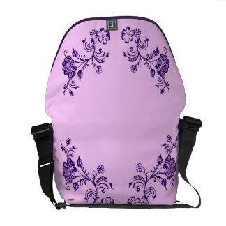 Henna Floral Messenger Bag
