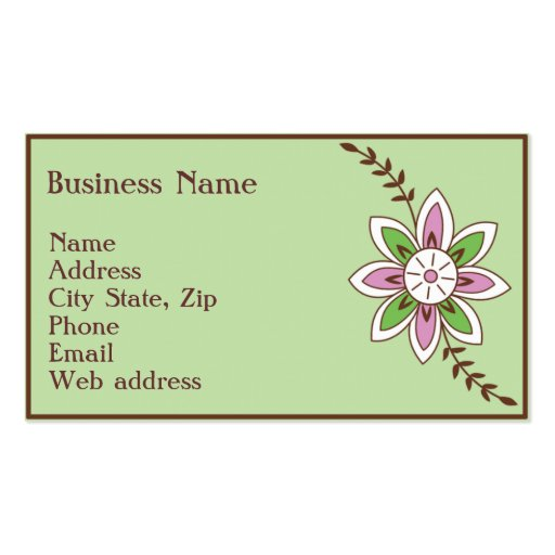 Henna business card templates page3 bizcardstudio for Henna business cards