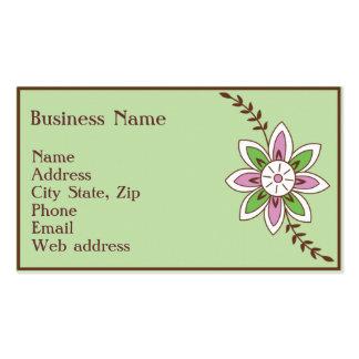 Henna Flower Business Card