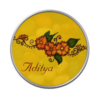 Henna Flower Candy Tins