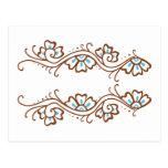 Henna Flower Chain Postcard