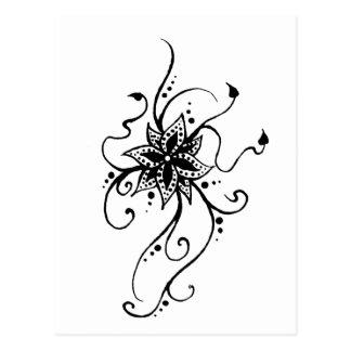 Henna Flower in Vines Postcard