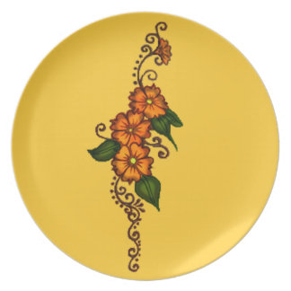 Henna Flower Plate