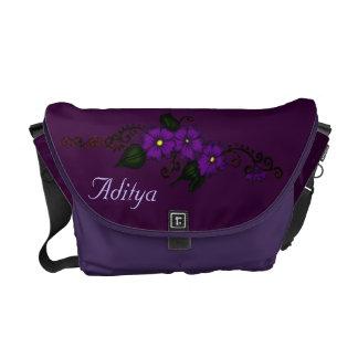 Henna Flower (Purple) Courier Bag