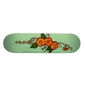 Henna Flower Skateboard Deck
