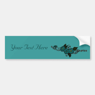 Henna Flower (Teal) Bumper Sticker