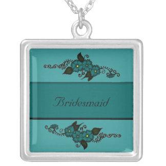 Henna Flower (Teal) Custom Necklace