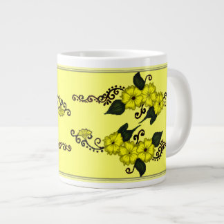 Henna Flower (Yellow) Giant Coffee Mug