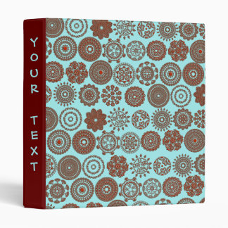 henna flowers and circles binders