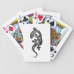 Henna Gecko Drawing Playing Cards by Cyn Mc