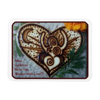 Henna Goddess Magnet: Original Henna on Wood